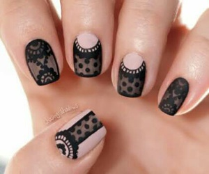 nails, black, and nail art image