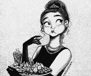 drawing, food, and art image