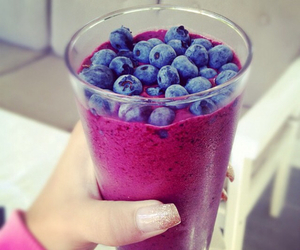 food, blueberry, and drink image