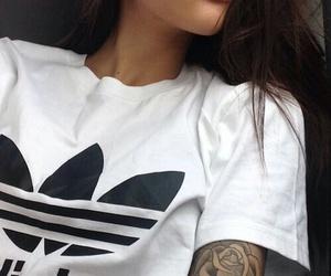 adidas, girl, and tattoo image