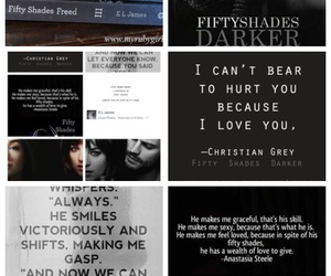 books, fifty shades darker, and fifty shades of grey image