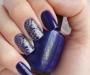 nails, fashion, and blue image