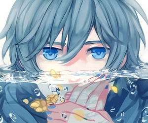 kaito, vocaloid, and water image