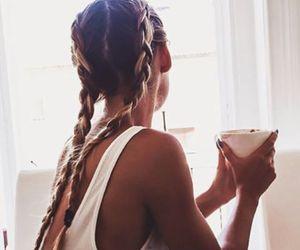 braids, fashion, and coffee image