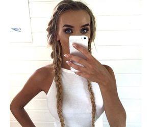 hair, hair style, and nails image