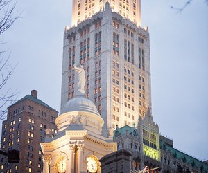 city, new york, and architecture image