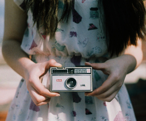 girl, camera, and vintage image