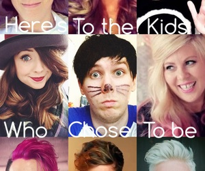 zoella, dan and phil, and jenna marbles image