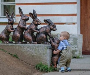 baby, help, and rabbit image
