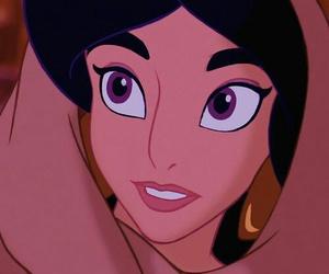 princess jasmine, aladdin, and disney image