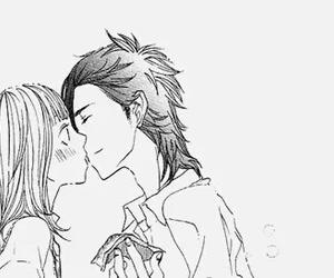 manga, couple, and kiss image