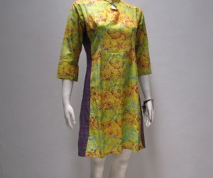 dress batik, dress batik murah, and dress batik kuning image