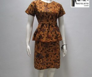 dress batik, model dress batik, and dress batik terbaru image