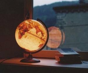 world, globe, and light image