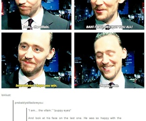 tom hiddleston, Marvel, and sweet image