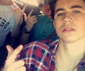 nash grier, aaron carpenter, and snapchat image