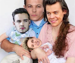 one direction, family, and funny image