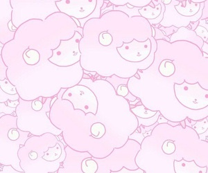 cute, sheep, and wallpaper image