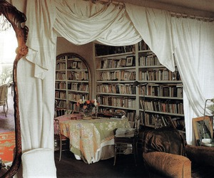 apartment, books, and interior image