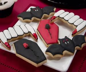 Halloween, Cookies, and vampire image