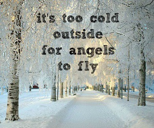 angel, cold, and winter image