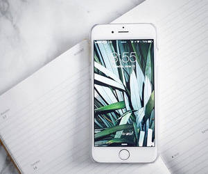 iphone, white, and apple image
