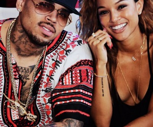 chris brown, couple, and karrueche tran image