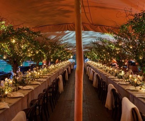 boho, long table, and tent image