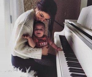 baby, piano, and selena gomez image