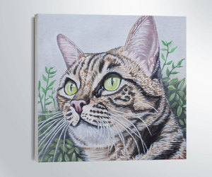 cats, etsy, and Oilpainting image