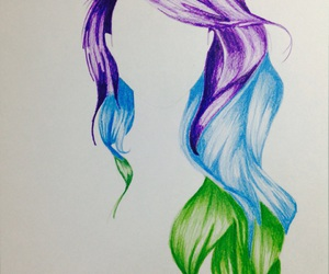 beautiful, bluehair, and color image