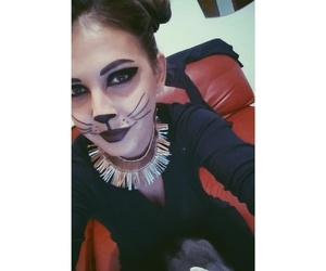 cat, Halloween, and kitty image