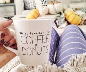 coffee, donuts, and comfy image