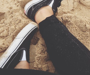 beach, sneakers, and fresh image