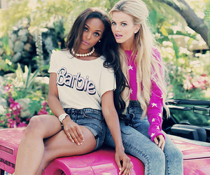 girl, barbie, and pink image