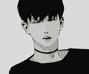 black&white, kpop, and leadmon image