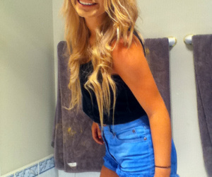 blonde, thin, and girl image