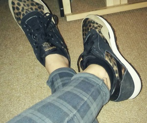 reebok, shoes, and lepord image