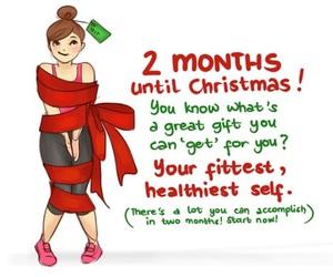 christmas, gift, and fitness image