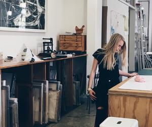 art, art gallery, and art girl image