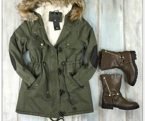boots, greek, and parka image