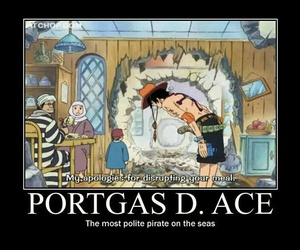 one piece, ace, and pirate image