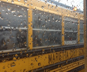bus, yellow, and grunge image