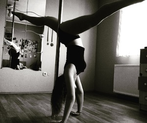 pole, poledance, and poledancer image