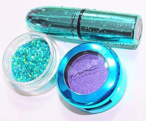 mac, glitter, and lipstick image