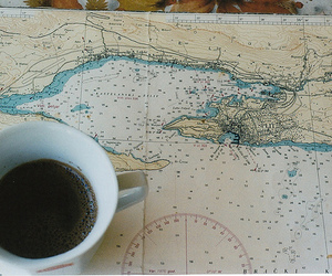 map and coffee image