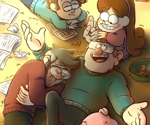pato, pines family, and gravity falls image