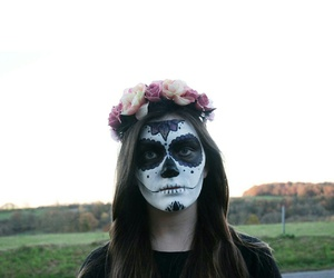 calavera, Halloween, and make-up image
