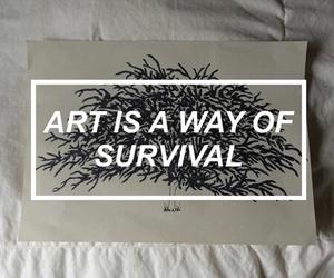 art, quote, and sad image