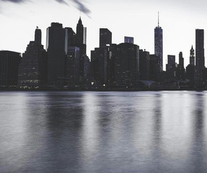 architecture, landscape, and nyc image